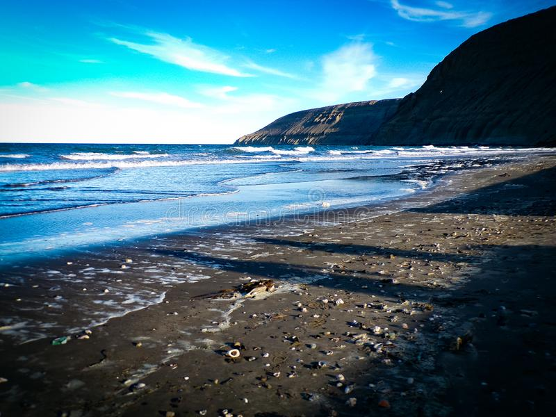 Rada Tilly Chubut Beach royalty free stock images