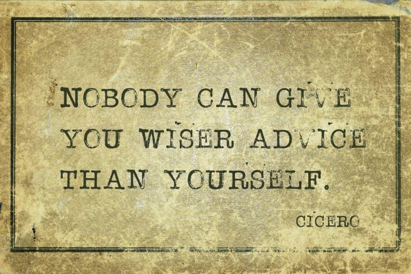 Rada yourself Cicero ilustracja wektor