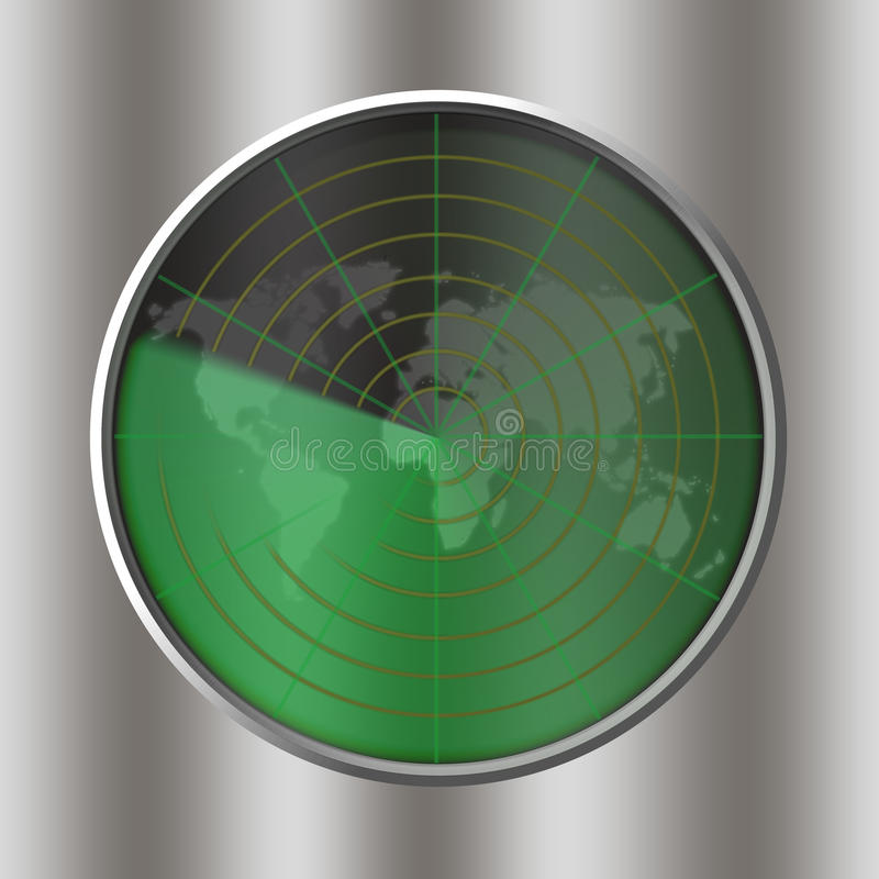 Download Radar stock illustration. Image of technologies, industrial - 10248546