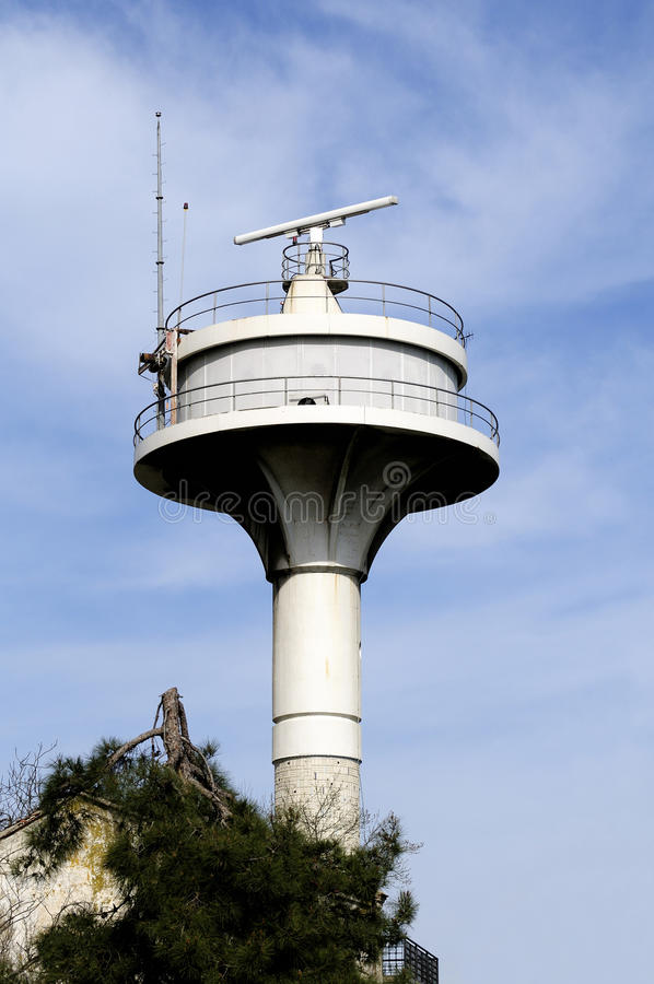 Radar. Nautical Radar In Uskudar, Istanbul - Turkey stock image