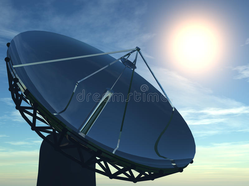 Radar royalty-vrije illustratie