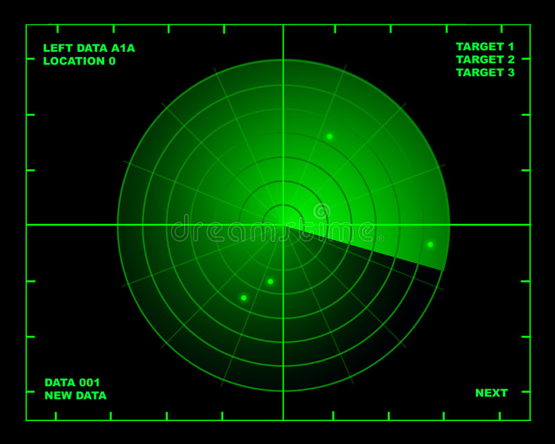 Radar vector illustratie