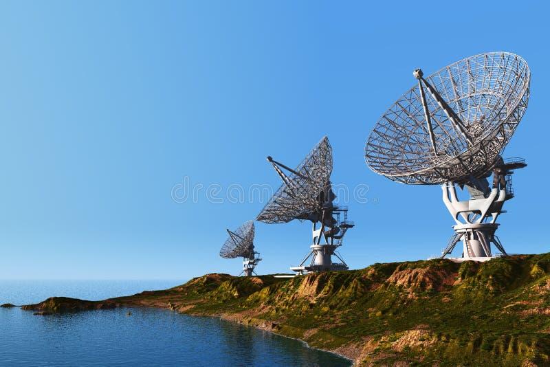 Radar ilustracja wektor