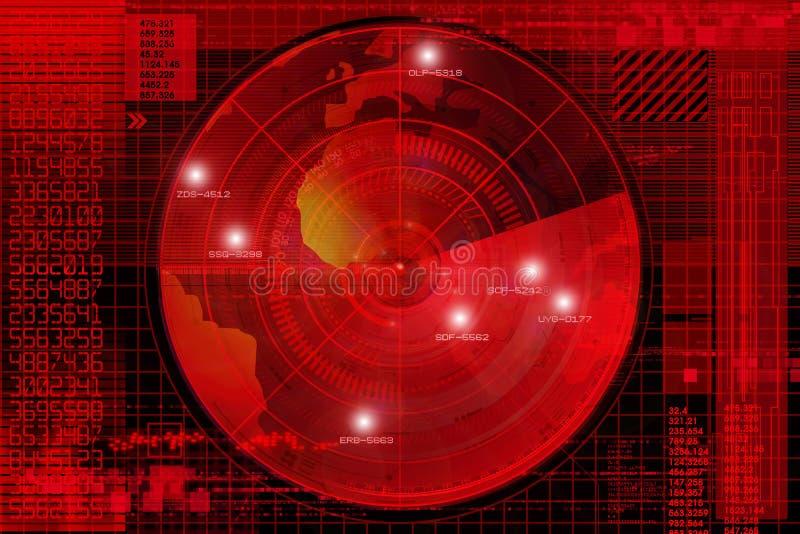 Radar ilustração stock