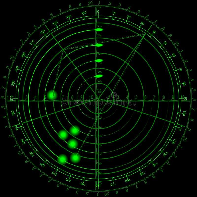 Radar ilustração royalty free