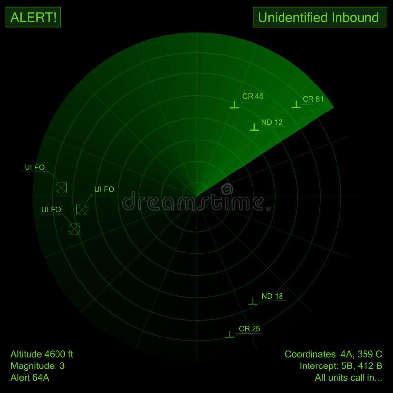 Radar vector illustratie