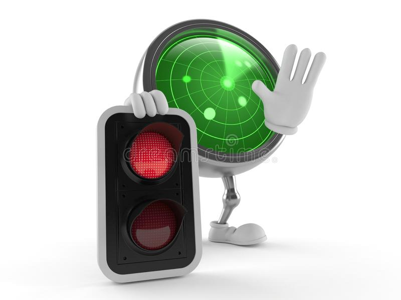 Radar character with red light royalty free illustration