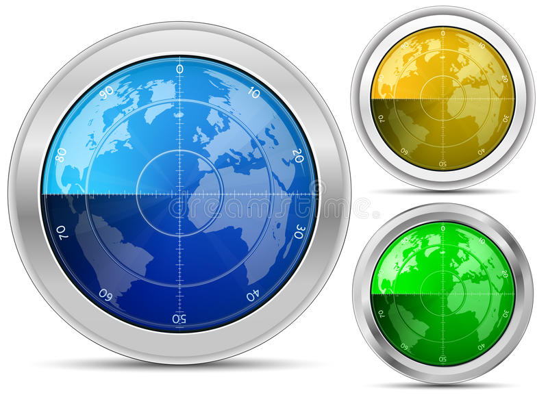 Download Radar collection stock vector. Image of isolated, equipment - 19736504
