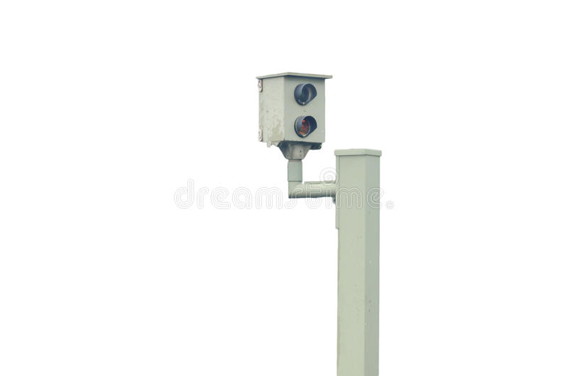 Radar control, flash, speed camera, speed cameras. Radar control, flash, speed camera, speed camera against a white background stock photography