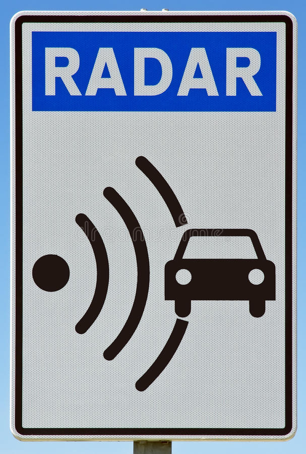 Radar d'indicateur de signal photos stock