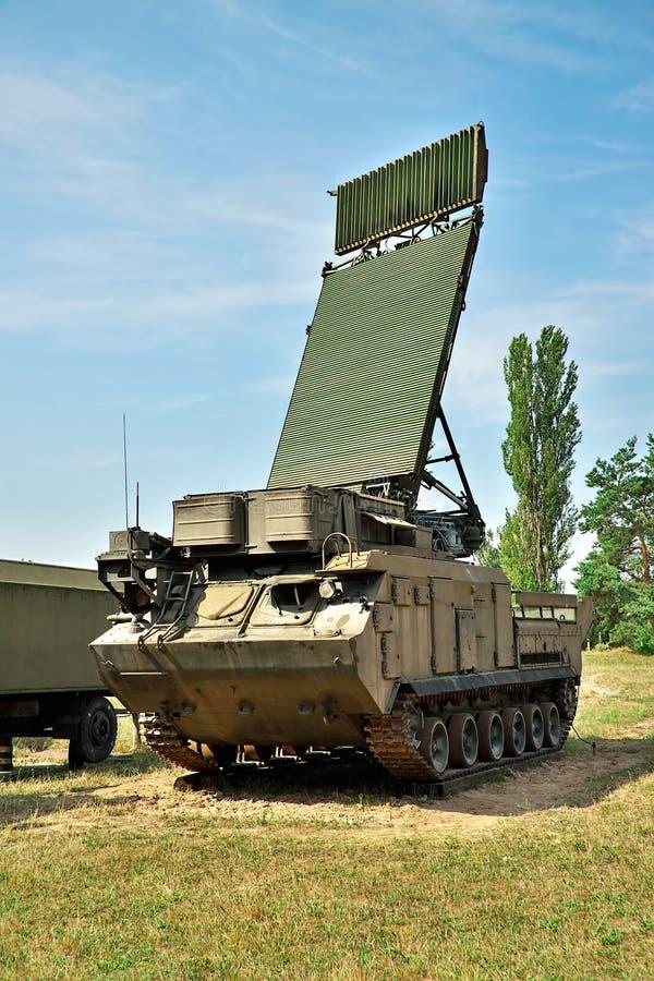 Radar da defesa aérea imagem de stock royalty free