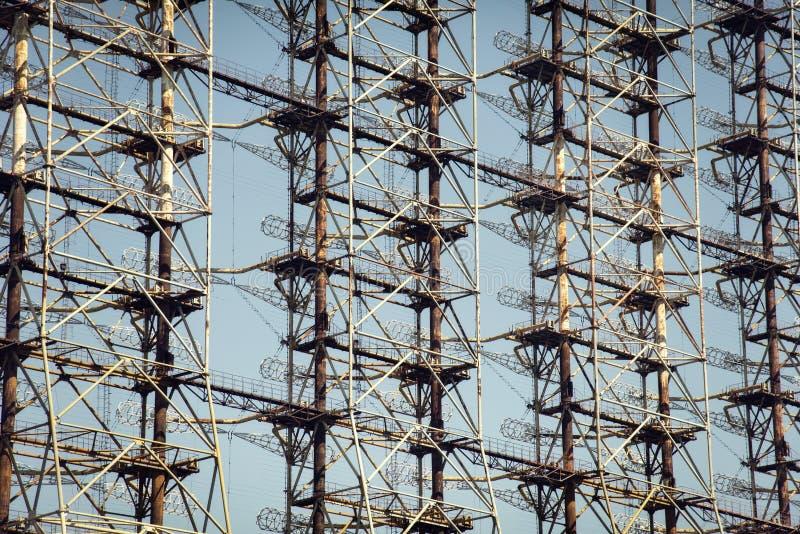 Radar de Chernobyl Duga foto de stock