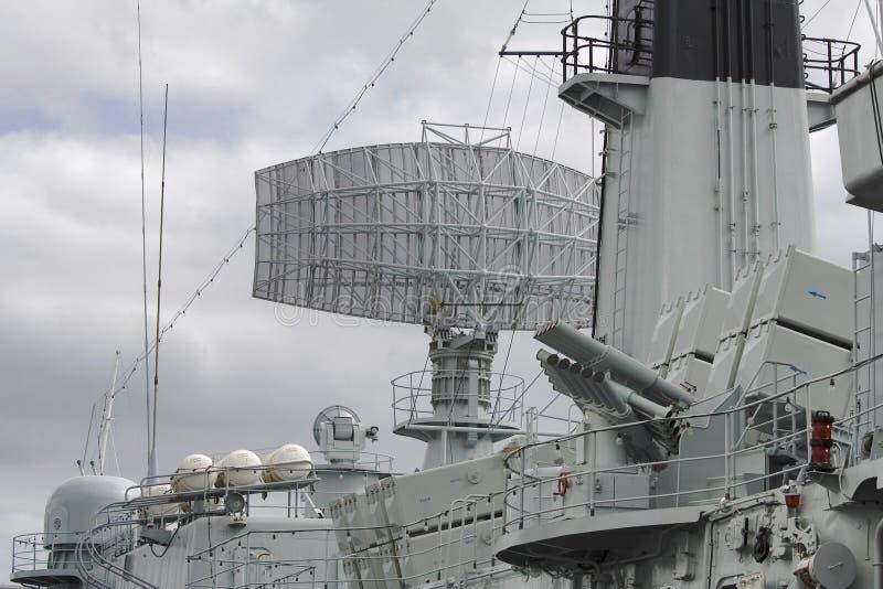 Radar de cuirassé photographie stock libre de droits