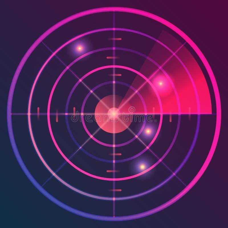 Radar de Digitas ilustração do vetor