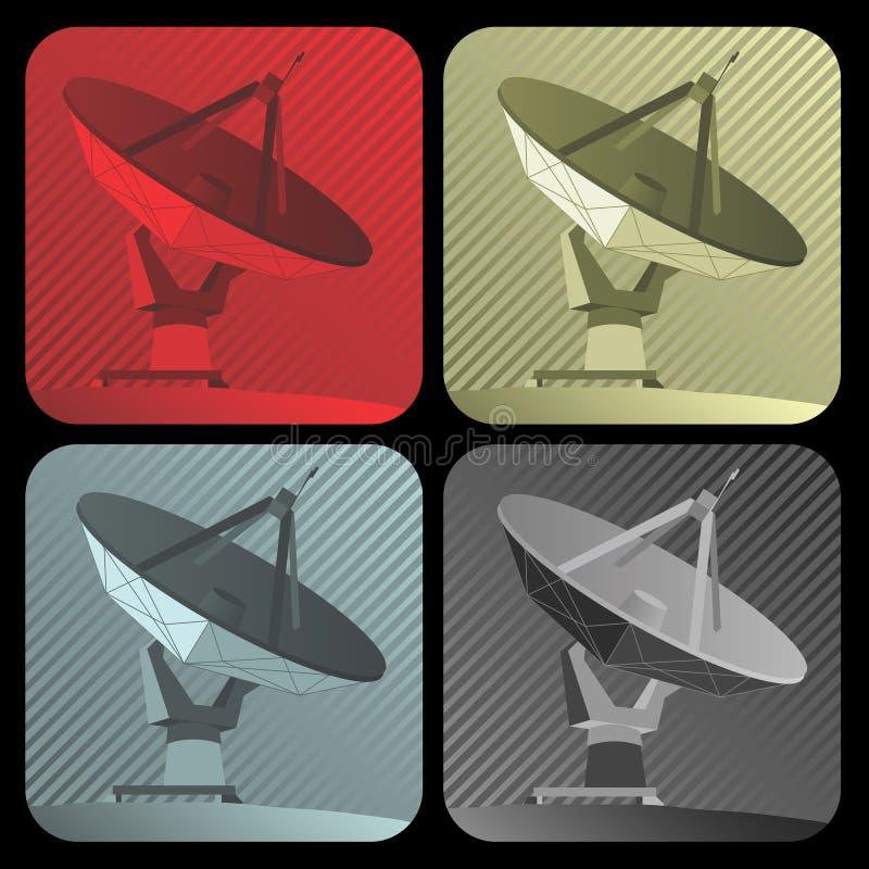 Radar del vector stock de ilustración