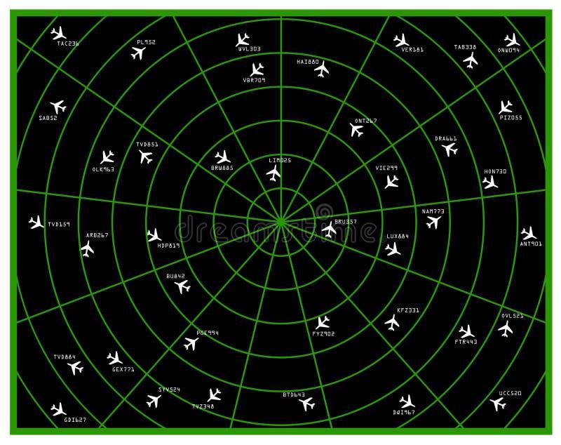 Radar del vuelo stock de ilustración