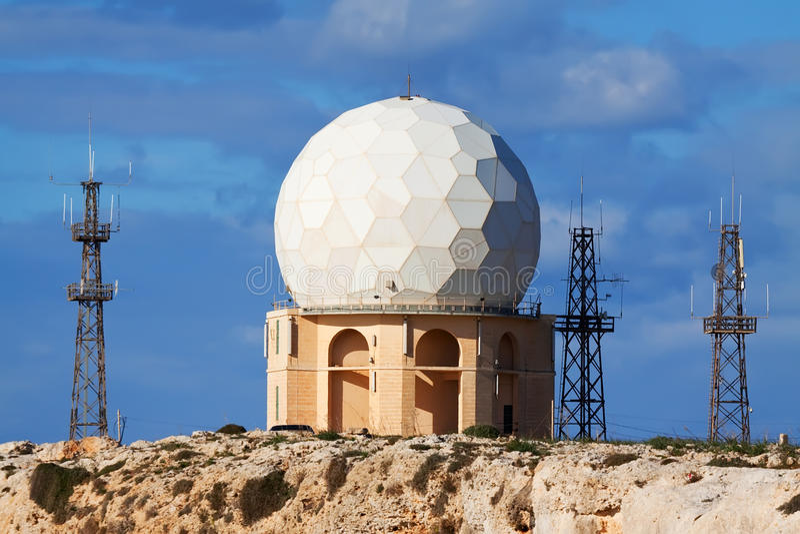 Radar di Dingli a Malta immagine stock libera da diritti