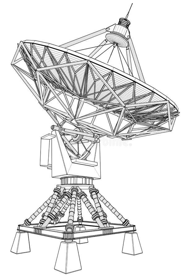 Radar doppler: tiraggio tecnico immagini stock