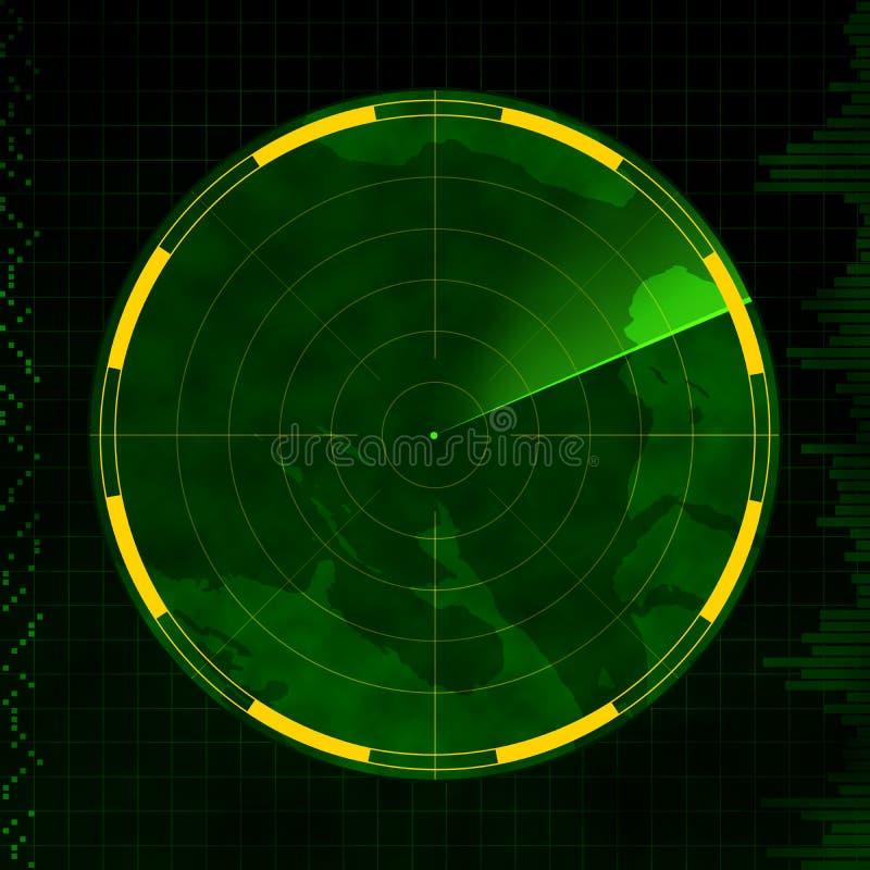 Radar en blanco stock de ilustración