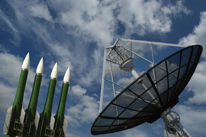 Radar et missiles russes modernes image libre de droits