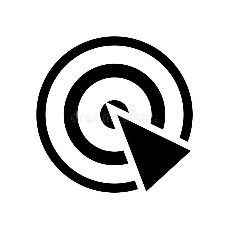 Radar icon vector isolated on white background, Radar sign , navigation symbols. Radar icon vector isolated on white background, Radar transparent sign stock illustration