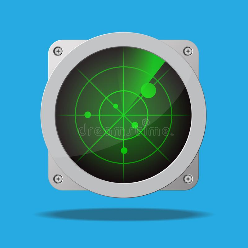 Radar  icon illustration. stock illustration