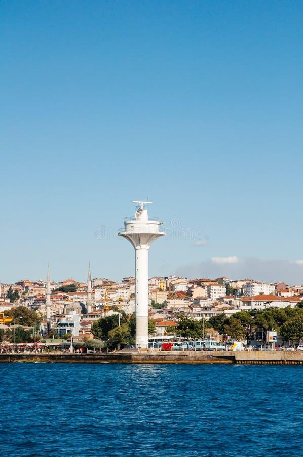 Radar marino che surveilling la costa della Turchia immagini stock libere da diritti