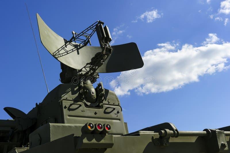 Radar militar fotografia de stock