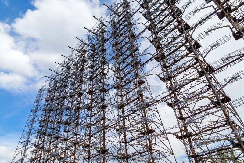 Radar militar anterior de Duga fotos de stock