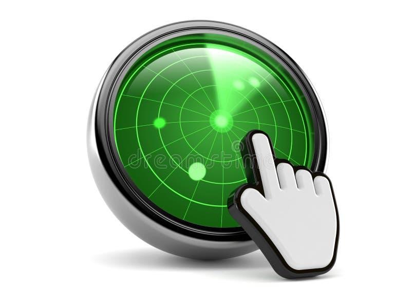 Radar mit Netz-Cursor lizenzfreie abbildung