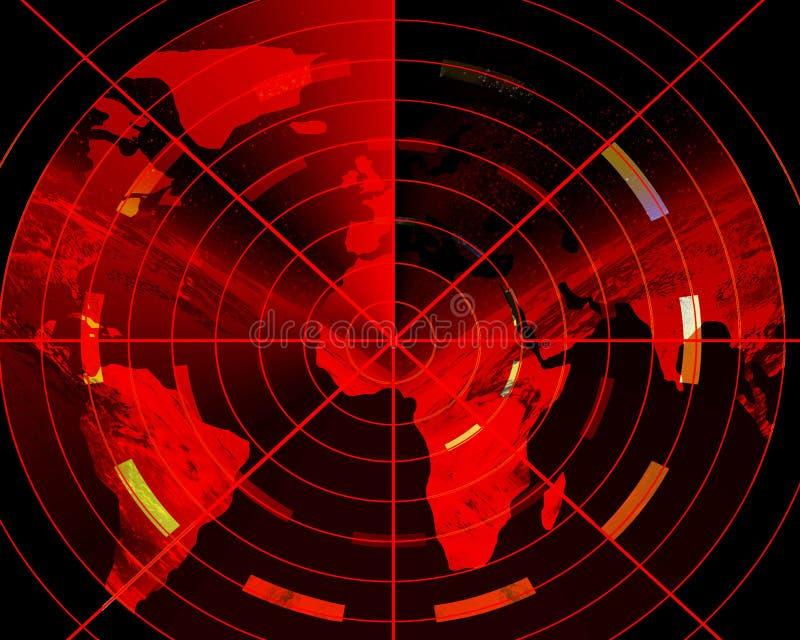 Radar rosso illustrazione di stock