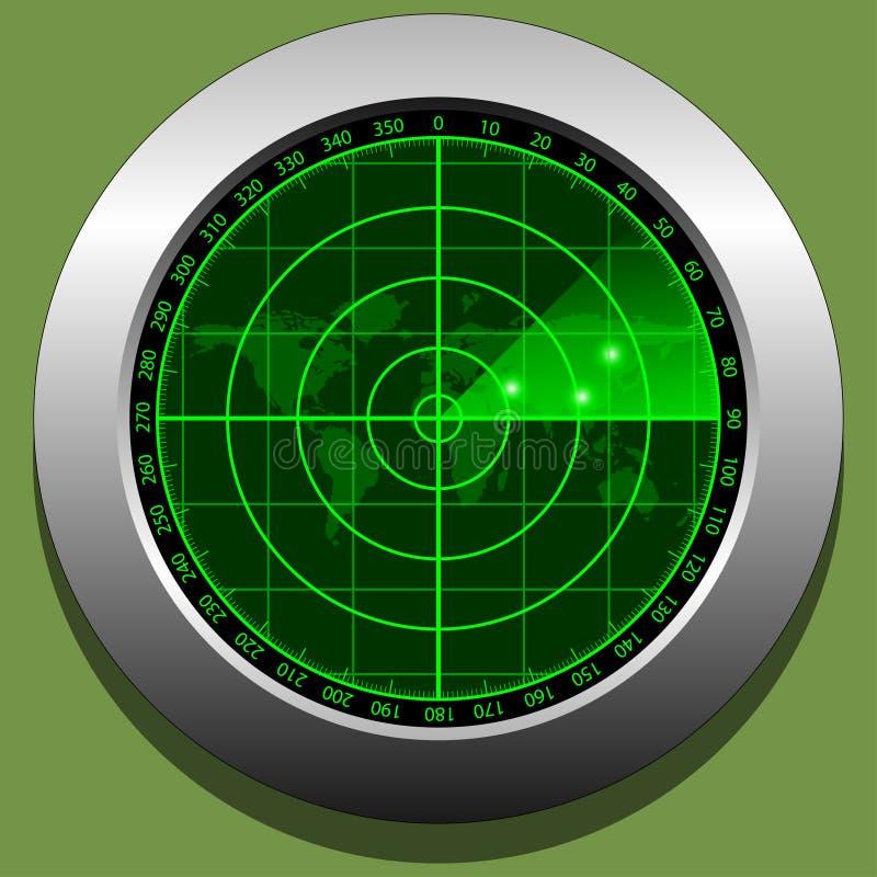 Radar screen stock illustration