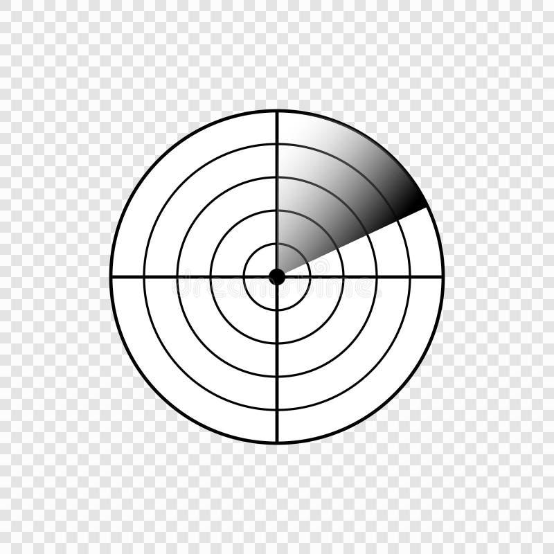 Radar screen icon stock illustration