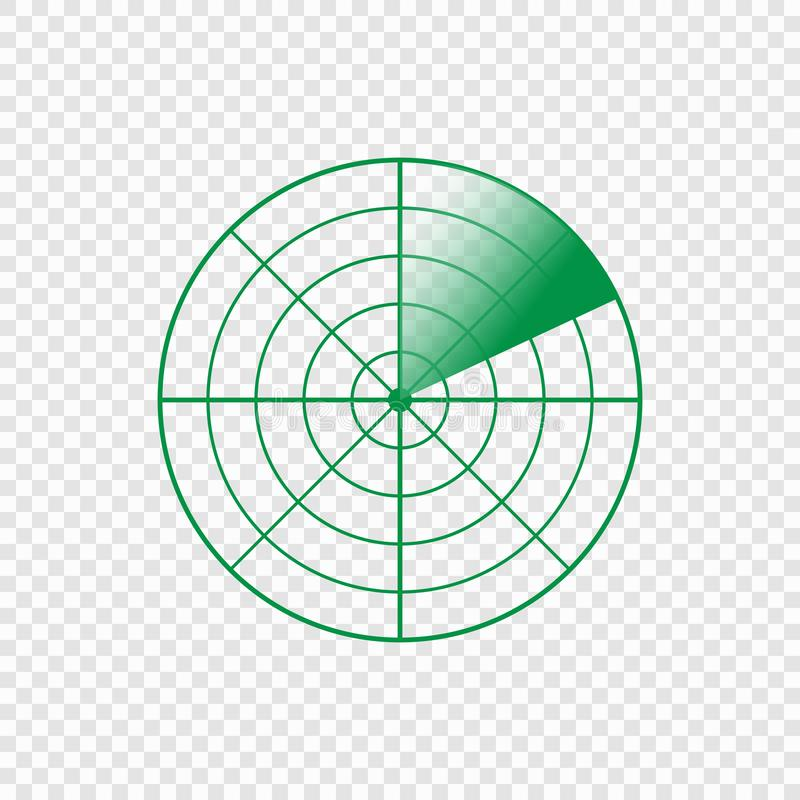 Radar screen icon vector illustration