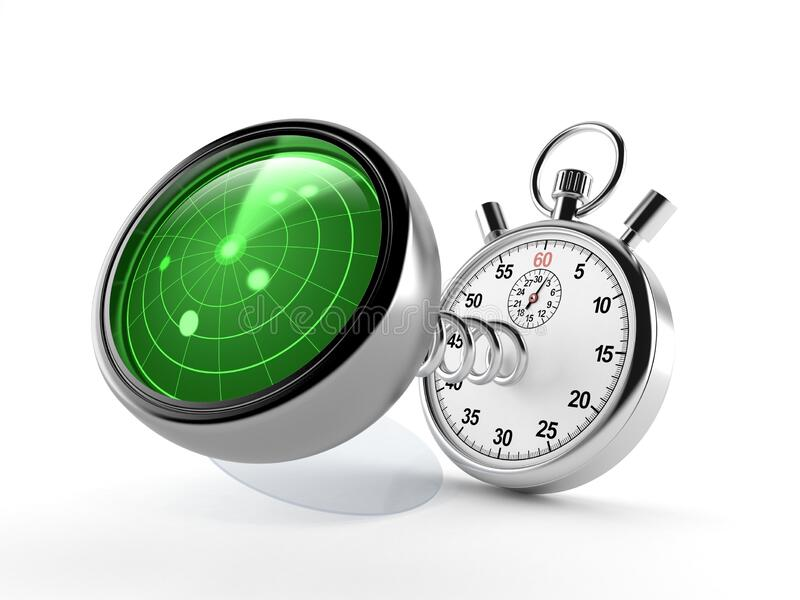 Radar with stopwatch vector illustration