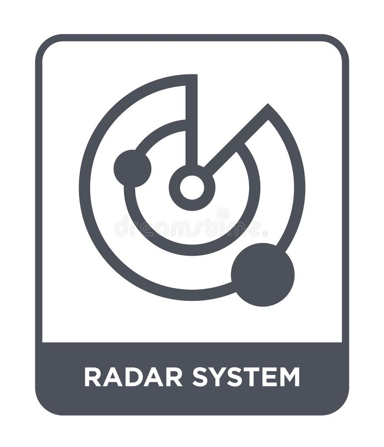 radar system icon in trendy design style. radar system icon isolated on white background. radar system vector icon simple and royalty free illustration