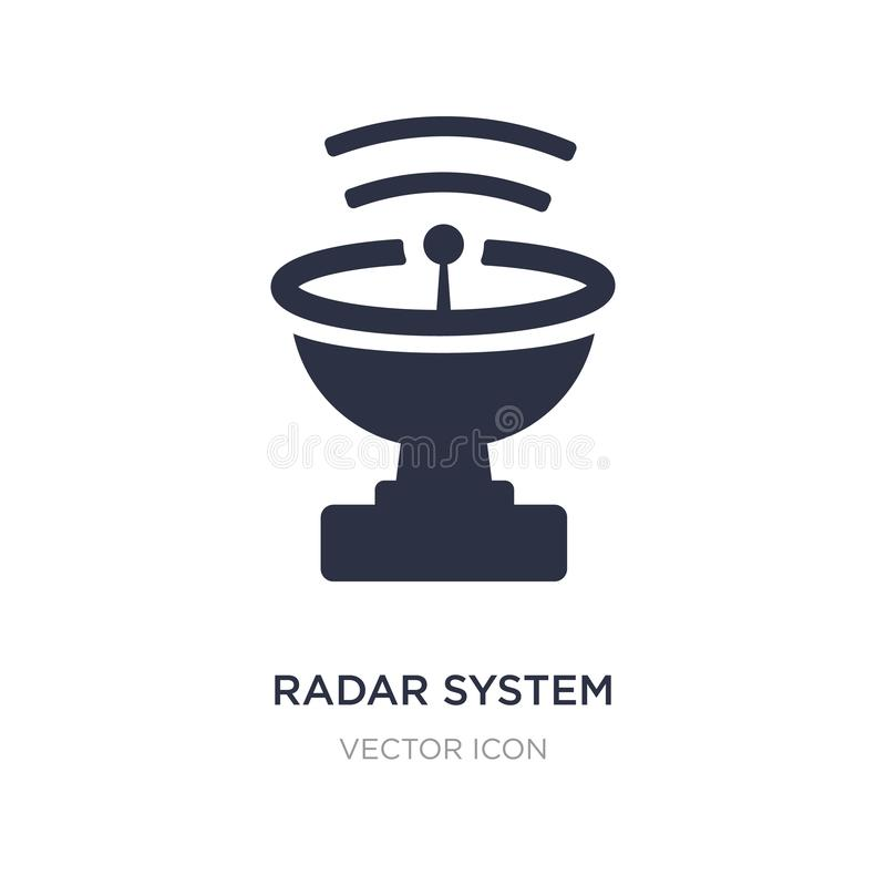 radar system icon on white background. Simple element illustration from Astronomy concept stock illustration