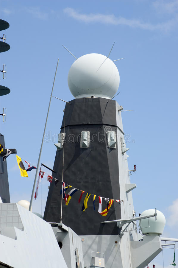Free Radar Tower, HMS Daring Stock Image - 15495191