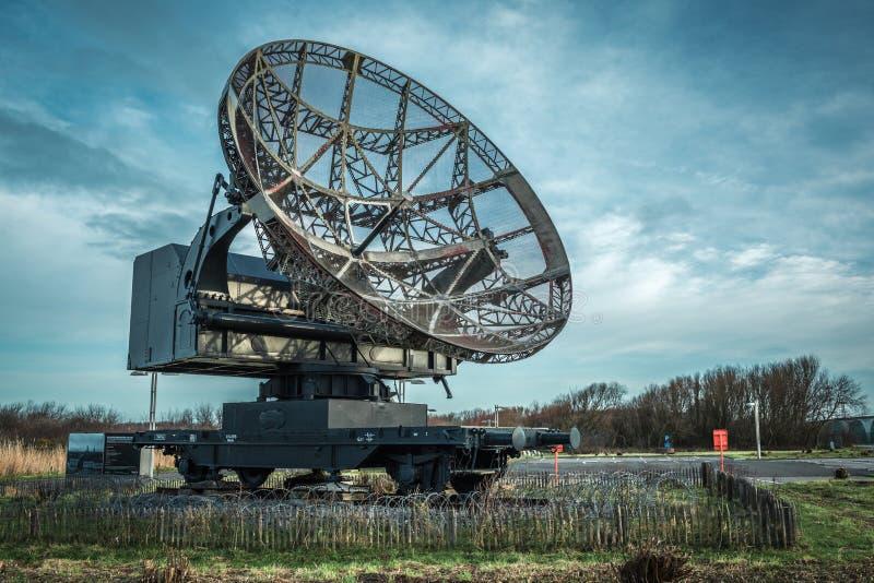 Radar w Atlantikwall openair muzeum obraz royalty free