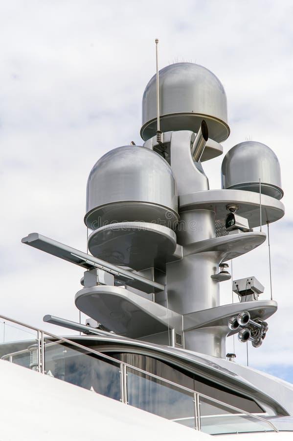 Radar On A Yacht Stock Photos
