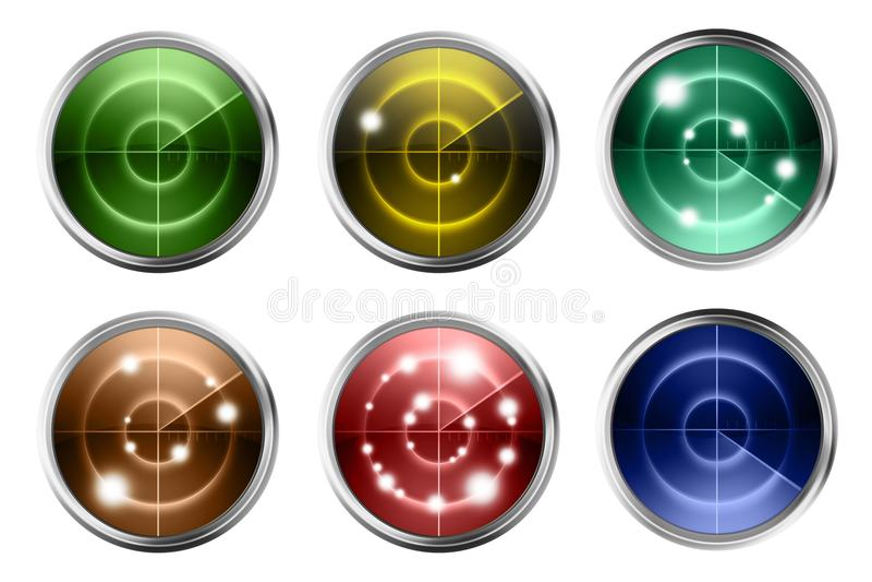 Radares coloridos aislados libre illustration