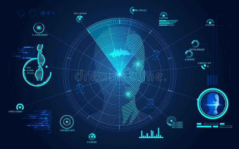 Radargezicht stock illustratie
