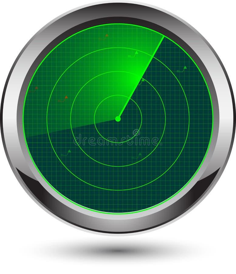 Radarikone vektor abbildung