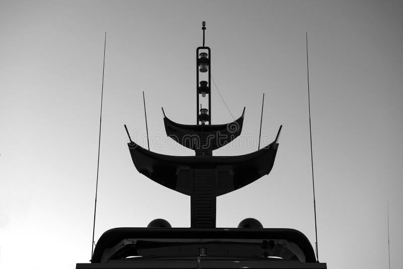 Radarowa komunikacja i system nawigacji górujemy na luksusowym fotografia stock