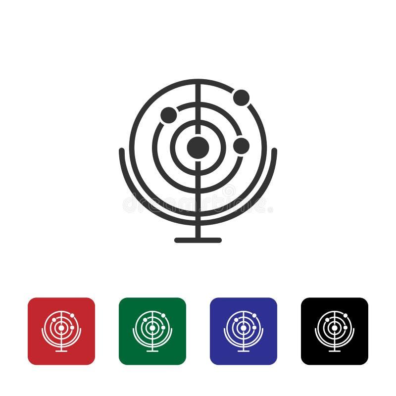 Radarowa wektorowa ikona Prosta element ilustracja od biotechnologii poj?cia Radarowa wektorowa ikona Bioengineering wektoru ilus ilustracji