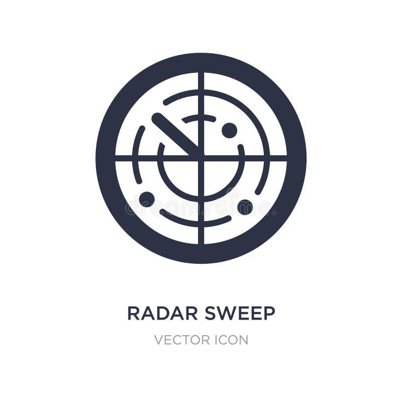 radarowa zakres ikona na białym tle Prosta element ilustracja od technologii pojęcia royalty ilustracja