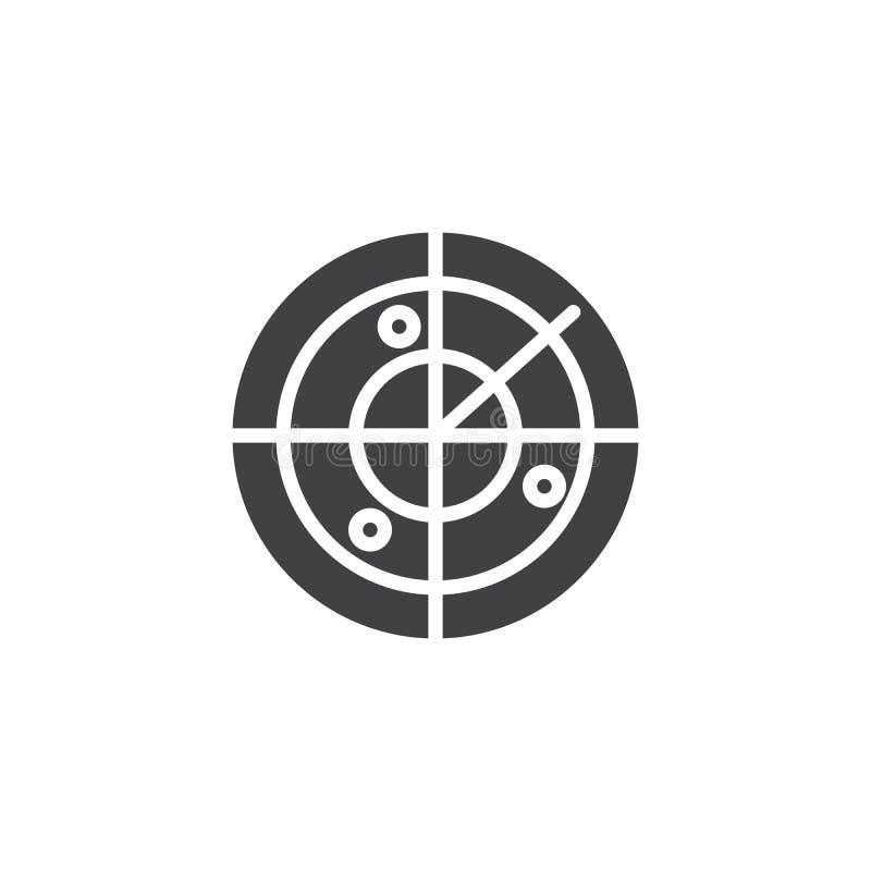 Radarowy ikona wektor ilustracja wektor