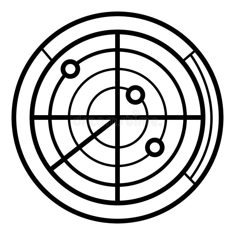 Radarowy ikona wektor royalty ilustracja