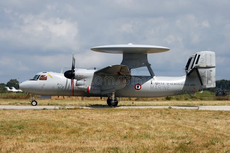 Radarplane francês da marinha imagem de stock royalty free