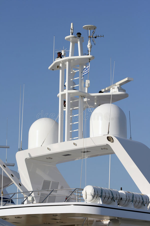 Radars and antennas royalty free stock images